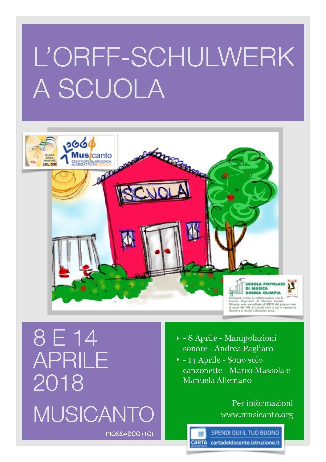 L'Orff-Schulwek a scuola – MANIpolAZIONI SONORE – Andrea Pagliaro