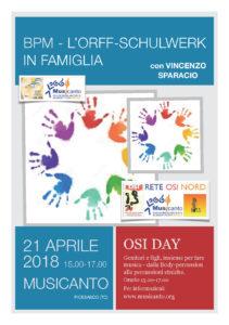 OSI DAY - BPM L'Orff-Schulwerk in famiglia