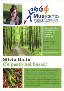Seminario C'è posto nel bosco - Silvia Gallo